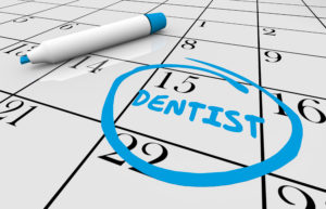 Calendar reminding you to get fillings by end of the year